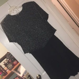 Other - Hand beaded top and silk skirt